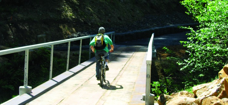 Riding the Crown-Zellerbach Trail to Vernonia