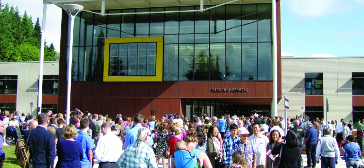 Grand opening of Vernonia Schools on August 21, 2012